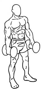 Dumbell-shoulder-shrugs-uitvoering-begin
