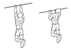 Chin-ups, compound oefening voor oa lats en biceps