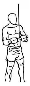 triceps-pushdown-uitvoering-beginstand-