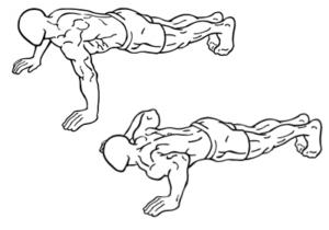 Opdrukken, compound oefening voor triceps, schouders, en borst