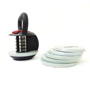 focus fitness kettlebell met schijven