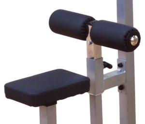 lat pulldown machine - zitting en beenrol