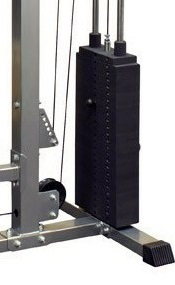 lat pulley met - weight stack