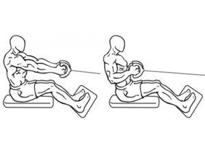 seated row oefening uitvoering