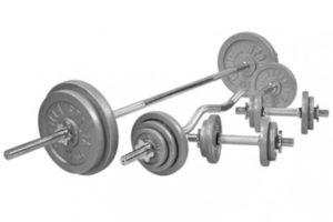 Halterset gietijzer 108 kg