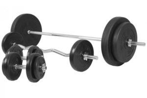 Halterset kunststof 100 kg