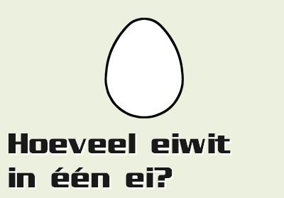 hoeveelheid eiwit in ei